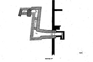 S 10 (Abydos) - Abydos, plan of tomb S10, as published in 1904