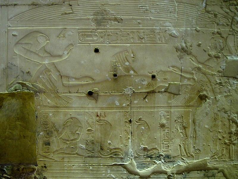 File:Abydos Tempelrelief Sethos I. 36.JPG
