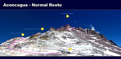Normal route to the summit