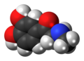 Adrenalone molecule spacefill.png
