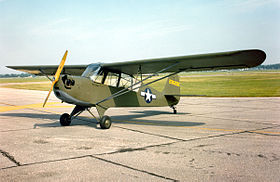 "L'Aeronca L-3B ""Grasshopper"" esposto al National Museum of the United States Air Force"
