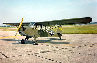 Aeronca L-3 1941 military liaison aircraft by Aeronca in the United States
