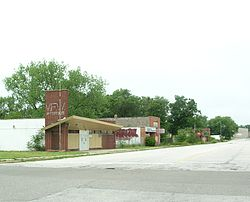 The former downtown area of Aetna