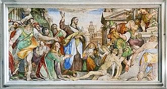 Federico Zuccari - Raising of Lazarus