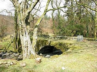 Afon Meillionen River in Gwynedd, Wales