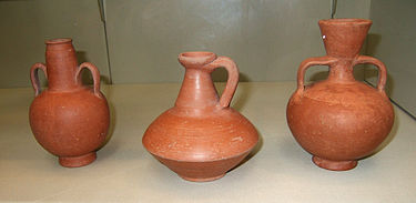 Berber Red Slip flagons and vases, 2nd-4th centuries African Red Slip vessels.JPG