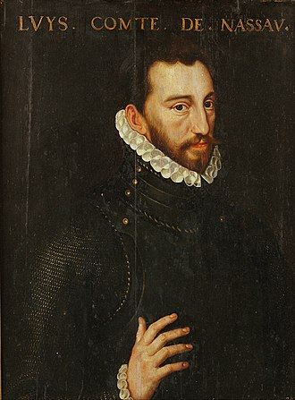 Louis of Nassau - Portrait of Louis of Nassau by Adriaen Thomasz Key, from 1570 to 1574