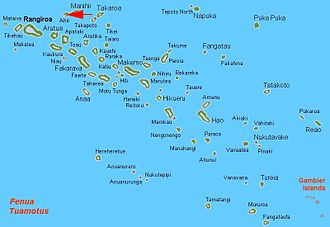 Ahe - Location of Ahe Atoll