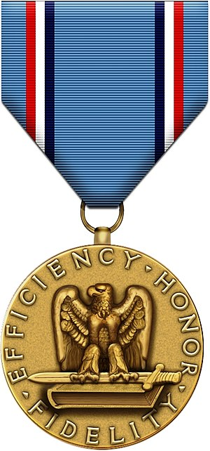 Awards and decorations of the United States Air Force - Image: Air Force Good Conduct Medal black bg