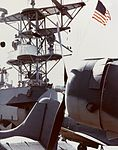 Aircraft and island of USS Santee (ACV-29) in late 1942.jpg