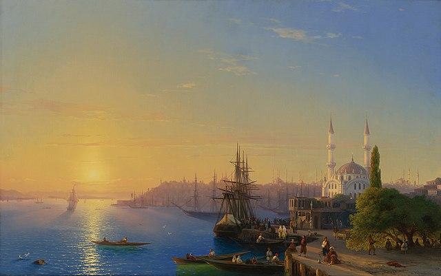 «Вид Константинополя и Босфора». 1856