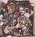 Ajanta Cave 2 ceiling foreigners group.jpg