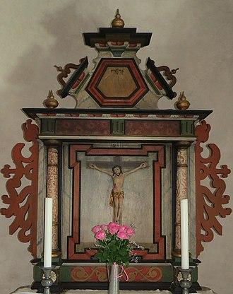 Akebäck Church - Image: Akeback altare
