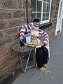 Al fresco French scarecrow diner, High Street, Spofforth (28th June 2014) 001.JPG