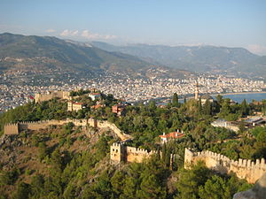 Alanya Castle - Walls and landward fortress of Alanya Kale
