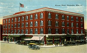 National Register of Historic Places listings in Coahoma County, Mississippi - Image: Alcazar Hotel Clarksdale