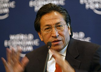 Alejandro Toledo - Toledo speaks in Davos, January 21, 2003.