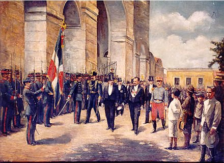 President Alejandro Woss y Gil taking office in 1903 Alejandro Woss y Gil.jpg
