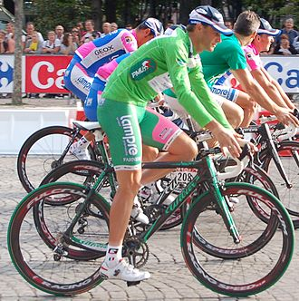 Fulcrum Wheels - The cyclists of the Lampre-Farnese Vini team in Fulcrum Racing Speed wheels led by Alessandro Petacchi during the 2010 Tour de France