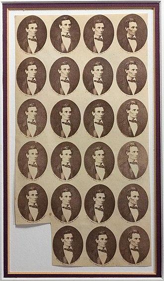 Alexander Hesler - Image: Alexander Hessler Abraham Lincoln medailons