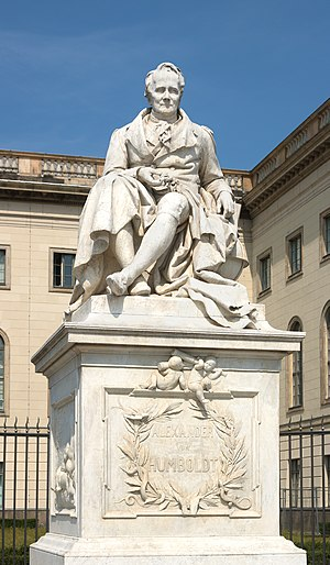 Humboldt University of Berlin - Statue of Alexander von Humboldt outside Humboldt University, from 1883 by artist Reinhold Begas.