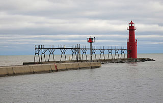 Algoma Light lighthouse in Wisconsin, United States