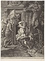 Allegorie op de Vrede van Nijmegen (1678) Hercules verslaat de harpijen voor de tempel van Janus, RP-P-BI-1902B.jpg