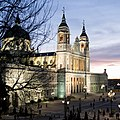 Almudena Cathedral, Evening in Madrid (18492764576).jpg