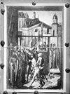 als achtergrond op een schilderij voorstellende de geeseling, van ca.1500 te rome - haarlem - 20096031 - rce