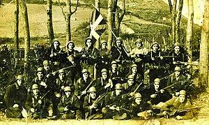 Euzko Gudarostea - Amaiur Battalion of the Euzko Gudarostea during the Spanish Civil War. Biscay, 1937.
