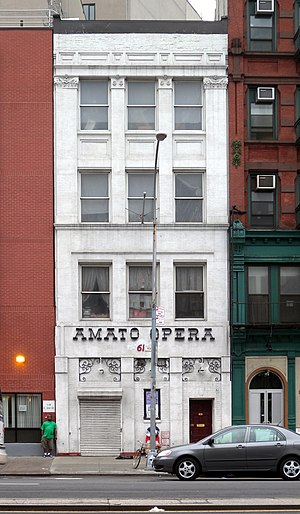Amato Opera - The Amato Opera's home at 319 Bowery in New York City, May 2009