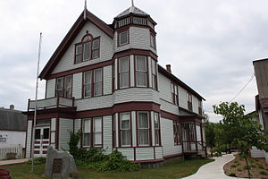 National Register of Historic Places listings in Marinette County, Wisconsin - Image: Amberg Wisconsin Town Hall July 2011
