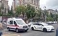 Ambulance and police car in Kyiv, Ukraine.jpg