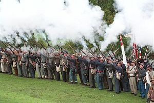 American Civil War reenactment - Reenactment at the American Museum in Bath, England