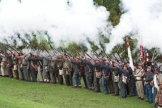 American Civil War reenactment - Reenactment at the American Museum in Bath, England