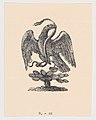 An eagle resting on a cactus holding a snake in its beak (from the Mexican coat of arms) MET DP869589.jpg