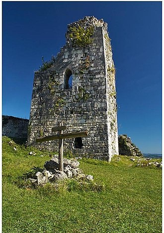 Gudauta District - Ruins of Anacopia on the Iverian Mountain