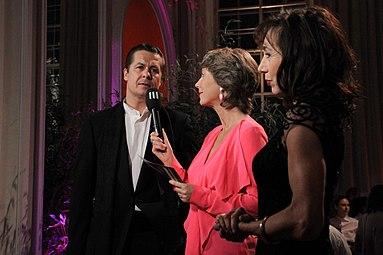 Andrea Eckert, Barbara Rett, Michael Dangl - Nestroy-Theaterpreis 2012.jpg