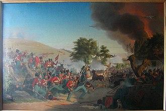 Battle of Dybbøl (1848) - Image: Angrebet på Dybbøl Bjerg 5 juni 1848