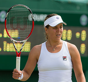 Anna Tatishvili - Tatishvili at the 2015 Wimbledon Championships