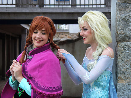 A little Frozen cosplay