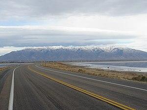Antelope Island - Image: Antelope Island Causeway 2005