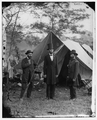 Antietam, Maryland. Allan Pinkerton, President Lincoln, and Major General John A. McClernand- Another View WDL1.png