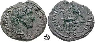 Britannia - An As coin from the reign of Antoninus Pius struck in 154 AD showing Britannia on the reverse