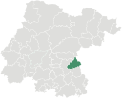 Vị trí của đô thị trong bang Guanajuato