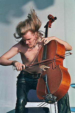 Apocalyptica's Perttu Kivilaakso playing metal...