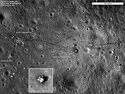 Apollo 17 landing site, labeled