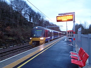 Apperley Bridge railway station - British Rail Class 333 serving a Bradford bound service.