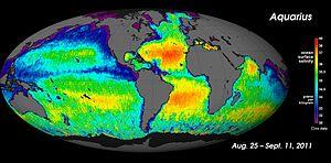 Harta globală a salinității