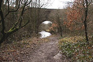Listed buildings in Blackrod - Image: Aqueduct carrying canal over the river Douglas (geograph 2265374)